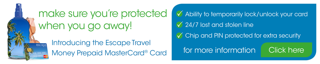 Apply for your Escape Travel Money Card today